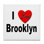 I Love Brooklyn New York Tile Coaster