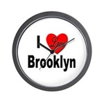 I Love Brooklyn New York Wall Clock