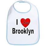 I Love Brooklyn New York Bib
