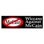 Wiccans Against McCain bumper sticker