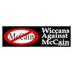 Wiccans Against McCain bumper sticker