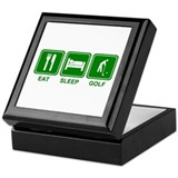 EAT SLEEP GOLF (grn) Keepsake Box