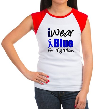 I Wear Blue For My Mom Women's Cap Sleeve T-Shirt