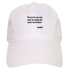 Gandhi Quote on Revenge Baseball Cap