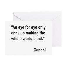 Gandhi Quote on Revenge Greeting Cards (Pk of 10)