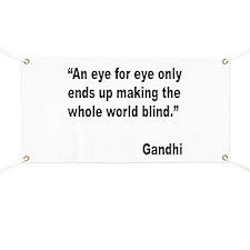 Gandhi Quote on Revenge Banner