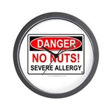 No Nuts-Severe Allergy Wall Clock