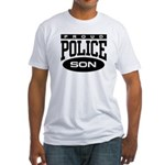 Proud Police Son Fitted T-Shirt