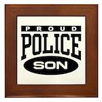 Proud Police Son Framed Tile