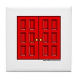 Red Doors Tile Coaster