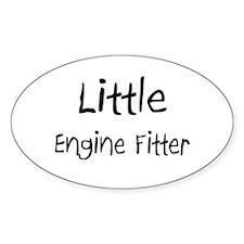 Little Engine Fitter Oval Sticker