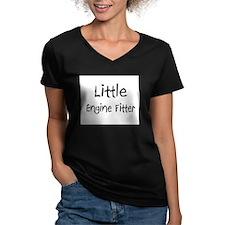 Little Engine Fitter Women's V-Neck Dark T-Shirt