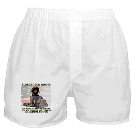 Truckers Supporting Our Troops Boxer Shorts