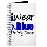 I Wear Blue For My Father Journal
