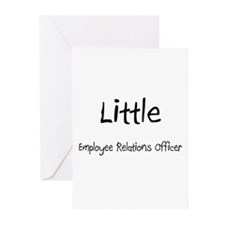 Little Employee Relations Officer Greeting Cards (