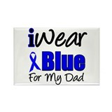 I Wear Blue For My Dad Rectangle Magnet