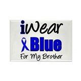 I Wear Blue For My Brother Rectangle Magnet