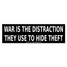 WAR IS THE DISTRACTION Bumper Sticker (10 pk)