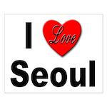 I Love Seoul South Korea Small Poster