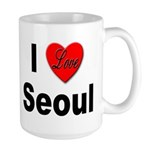 I Love Seoul South Korea Large Mug