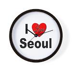 I Love Seoul South Korea Wall Clock