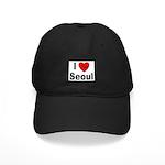 I Love Seoul South Korea Black Cap