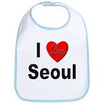 I Love Seoul South Korea Bib
