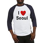 I Love Seoul South Korea (Front) Baseball Jersey
