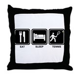 EAT SLEEP TENNIS Throw Pillow