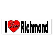 I love Richmond Virginia Bumper Bumper Sticker