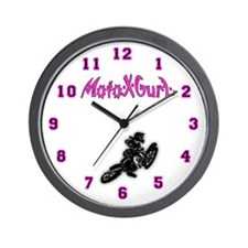 Motocross Girl Wall Clock