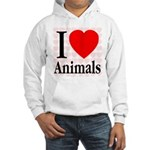 I Love Animals Hooded Sweatshirt