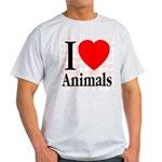 I Love Animals Ash Grey T-Shirt