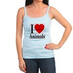 I Love Animals Jr. Spaghetti Tank