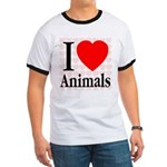 I Love Animals Ringer T
