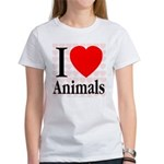 I Love Animals Women's T-Shirt