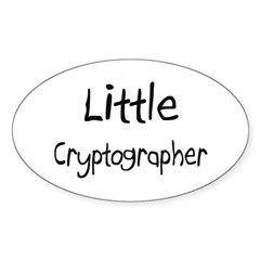 Little Cryptographer Oval Sticker