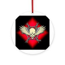 Skull Web Ornament (Round)