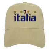 Italia 4 Star Soccer Baseball Cap