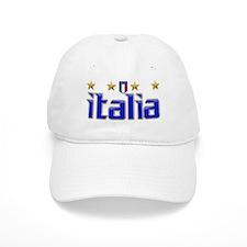 Italia 4 Star Soccer Baseball Cap