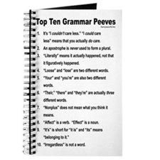 Grammar Peeves Journal