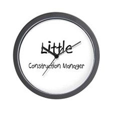 Little Construction Manager Wall Clock