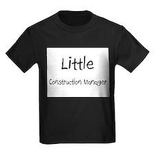 Little Construction Manager Kids Dark T-Shirt
