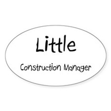 Little Construction Manager Oval Sticker