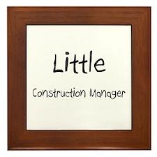 Little Construction Manager Framed Tile