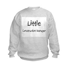 Little Construction Manager Kids Sweatshirt