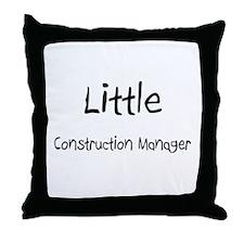 Little Construction Manager Throw Pillow