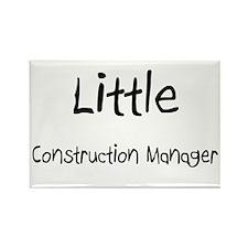 Little Construction Manager Rectangle Magnet