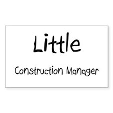 Little Construction Manager Rectangle Sticker