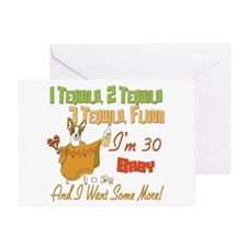 Tequila 30th Greeting Card